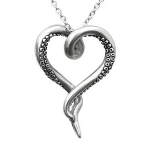 Jewelry - Sea Lover Octopus Heart Stainless Steel Necklace